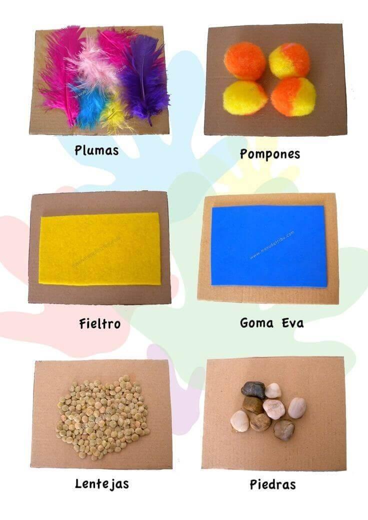 Diferentes materiales para practicar