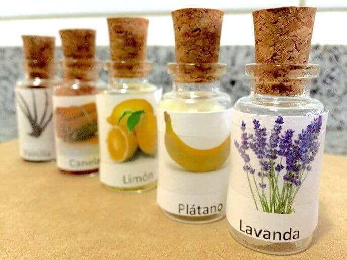 Actividad Montessori con Perfumes