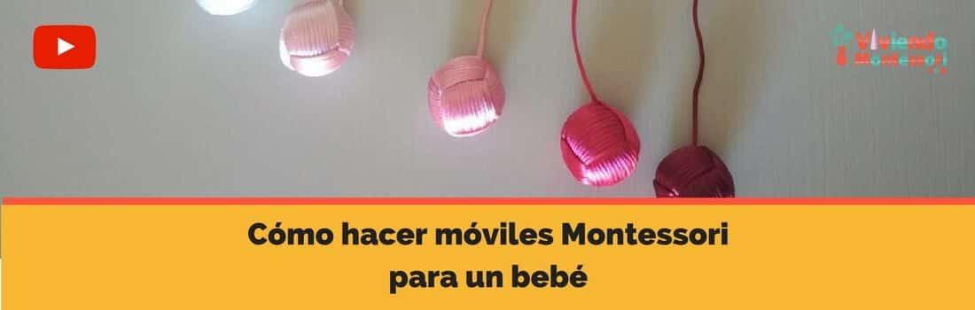 Cómo hacer móviles Montessori para un bebé