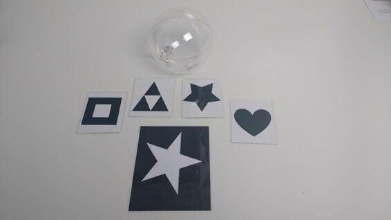 Tarjetas imprimibles y bola transparente - Moviles Munari Montessori