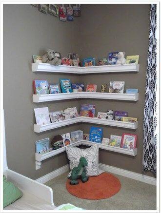 Ejemplo de espacio en un salón con el método Montessori en casa