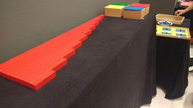 Material Montessori - Barras Rojas