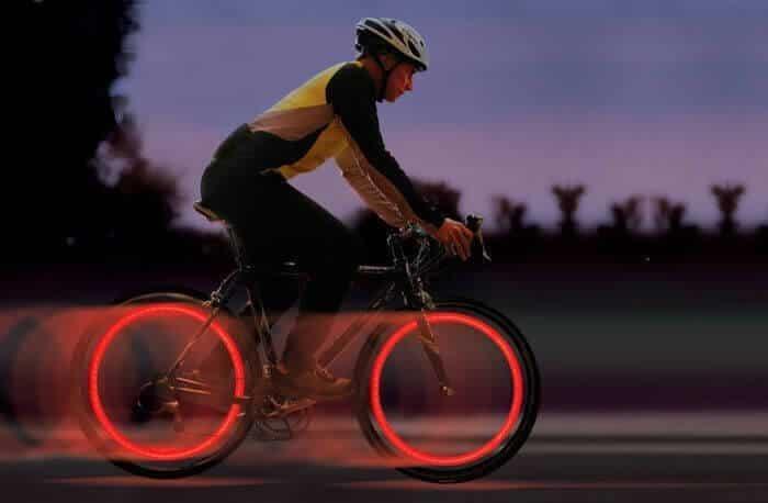 accesorio luz para rueda de bicicleta