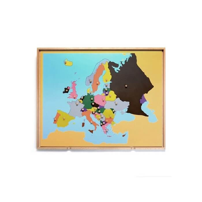 puzzle madera Europa