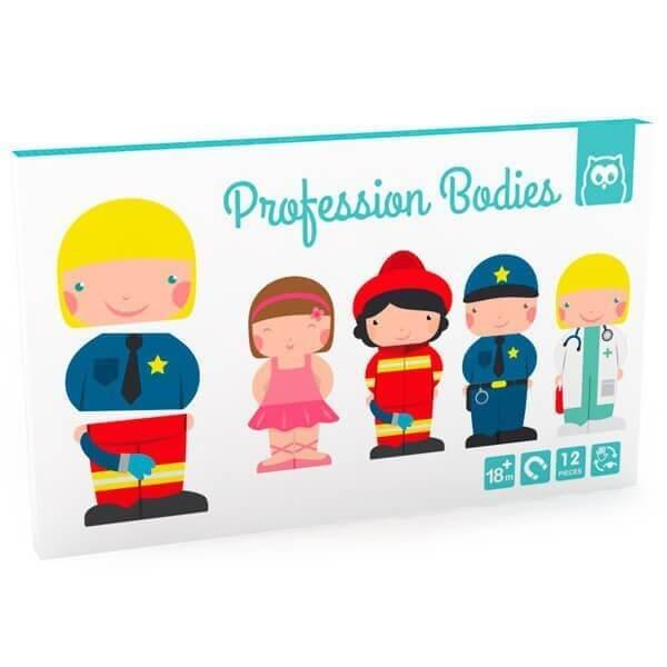 Puzzle magnético de profesiones