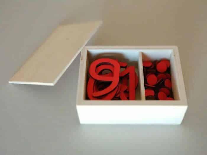 Caja abierta Numeros y contadores Montessori Jaisa