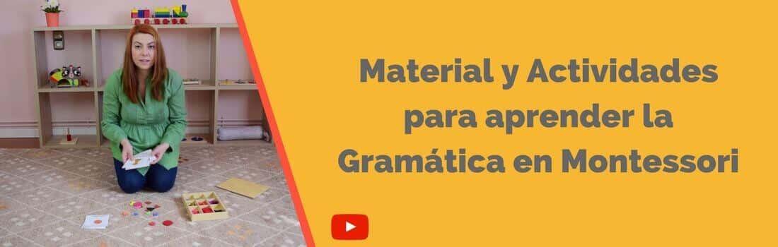 Material y Actividades para aprender la Gramática en Montessori