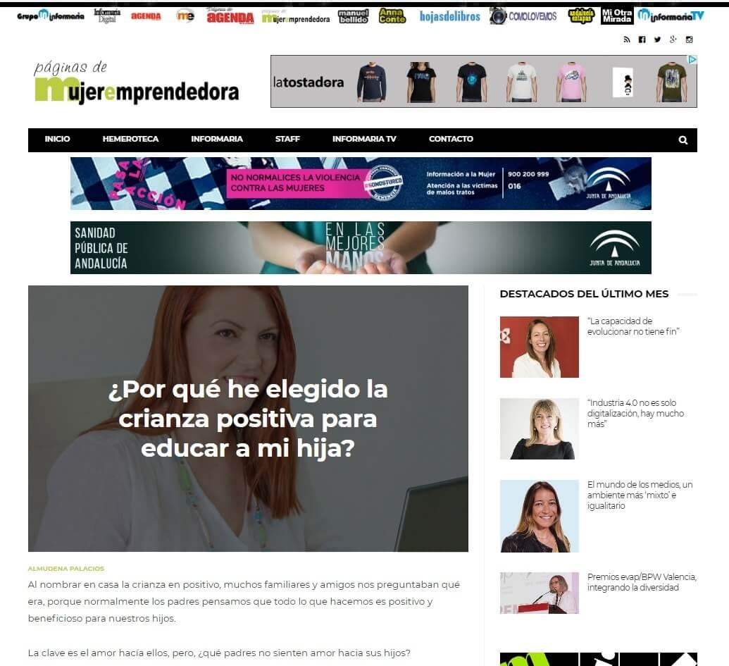 paginas de mujer emprendedora almudena