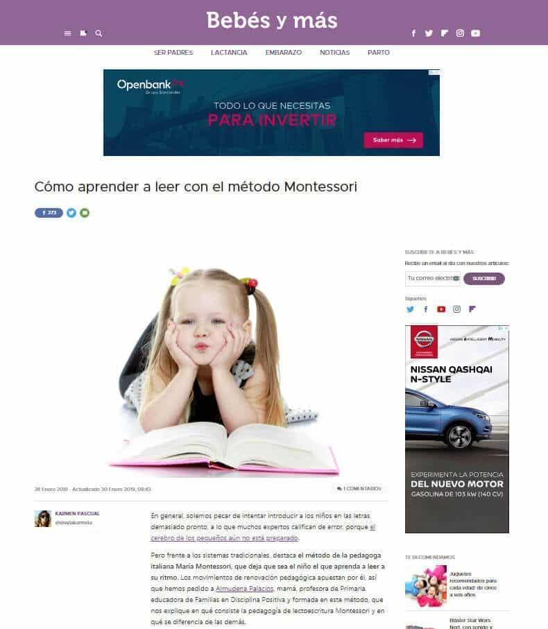 Cómo aprender a leer con el método Montessori - bebes y mas