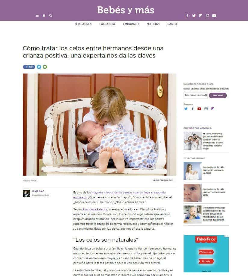 Almudena Palacios experta en disciplina positiva en bebes y mas