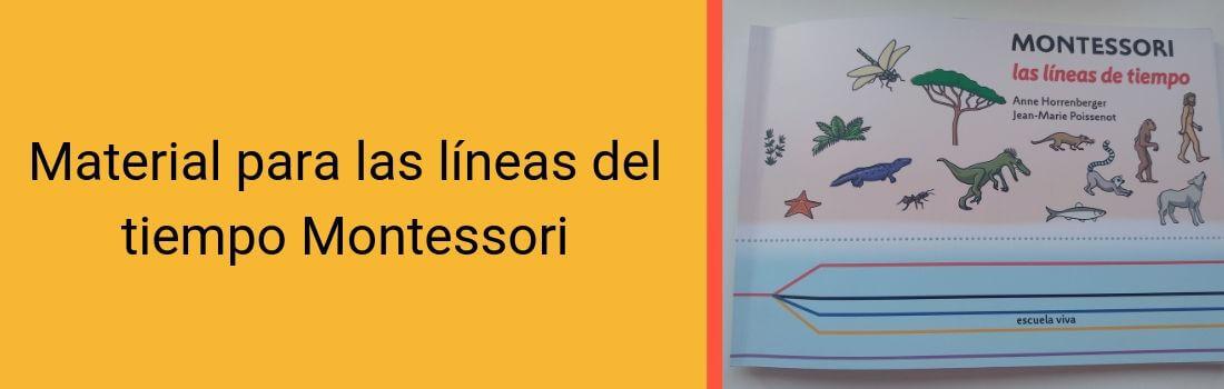 Material para las líneas del tiempo Montessori